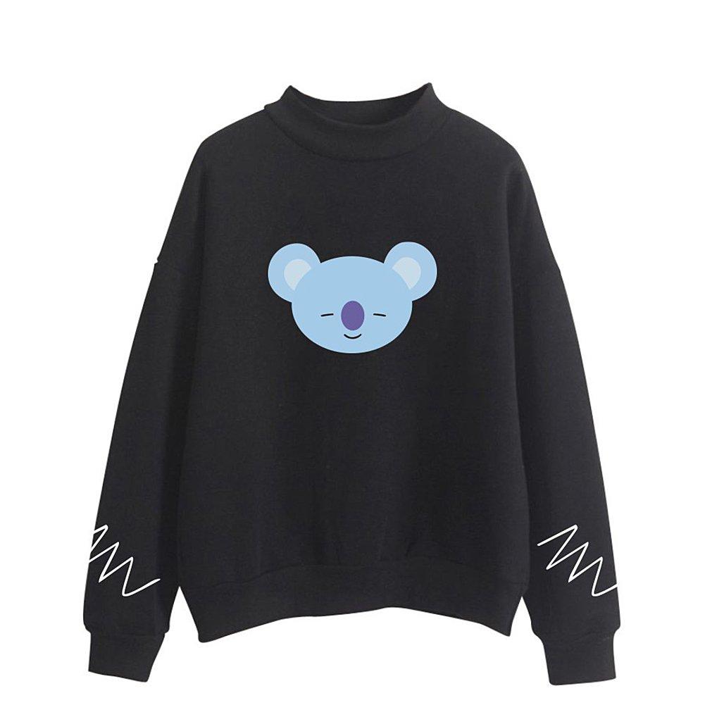 BTS Cartoon BT21 Cute Animals Sweatshirt for Women and Men Fashion Kpop Sweatshirt
