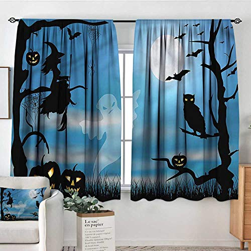 Sanring Halloween, Curtains Fantastic Forest at Night 72