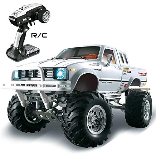 - XuBa HG P407 1/10 2.4G 4WD 3CH Brushed Rally Rc Car Metal 4X 4 Pickup Truck Rock Crawler RTR Toy Black White Gifts Boys Kids