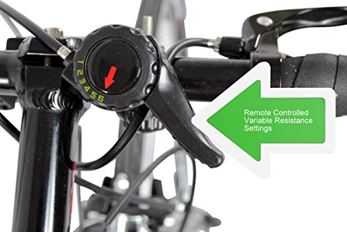 AccelaVelo Mag-XA Indoor Adjustable Magnetic Bike Trainer - 6 Levels Of Resistance - Handlebar Remote Is Included - Complete 2 Year Warranty by AccelaVelo (Image #6)