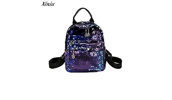 Amazon.com: mochilas Mujer 2018 Womens Shining Backpack Preppy Style Sequins Travel Satchel Mini Rucksack Mochila Feminina#4: Kitchen & Dining