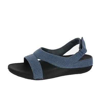 1a77a9d2816 FitFlop Superlight Ringer Sandals Denim UK3 Denim  Amazon.co.uk ...