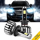 mercedes benz headlight bulb - H7 LED Headlights Bulbs Conversion Kits, 8000LM 80W 6000K Super Bright Car Headlamps for Audi Mercedes Benz BMW Hyundai Jaguar Kia Land Rover Porsche Volkswagen Volvo Mazda Subaru Chrysler - 2 pcs