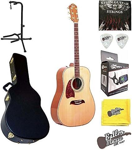 Oscar Schmidt og2nlh guitarra acústica Dreadnought Lefty W/BLK funda rígida y más: Amazon.es: Instrumentos musicales