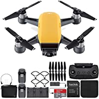 DJI Spark Portable Mini Drone Quadcopter Fly More Combo Bundle (Sunrise Yellow)