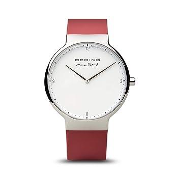 BERING Reloj Analogico para Mujer de Cuarzo con Correa en Silicona 15540-500: Amazon.es: Relojes