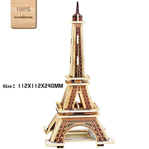 3D Diy Wooden Puzzles Eiffel Tower Model Toy And Hobby For Kids
