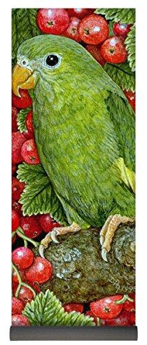 Berry Parakeet (Pixels Yoga Mat w/ Bag
