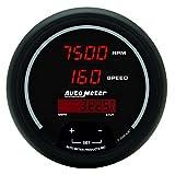 Auto Meter 6387 Sport Comp Digital 3-3/8' 8000 RPM / 160 MPH Digital Tachometer/Speedometer Combo