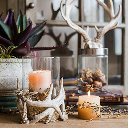 Unique Antlers Design Candle Holder Votive Candle Lantern Decoration(No Candle) by RockTrend (Image #3)