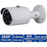 OSTC @ Dahua IPC-HFW4421S 4 Megapixel Network Mini IR Bullet Security IP Camera 3.6mm Lens POE Camera