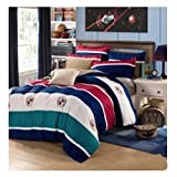 DECORATE Bedding Set,Flat Sheet,Fitted Sheet-100%^ Cotton-Includes Comforter,Cool & Breathable-Ins Style,Simple Style