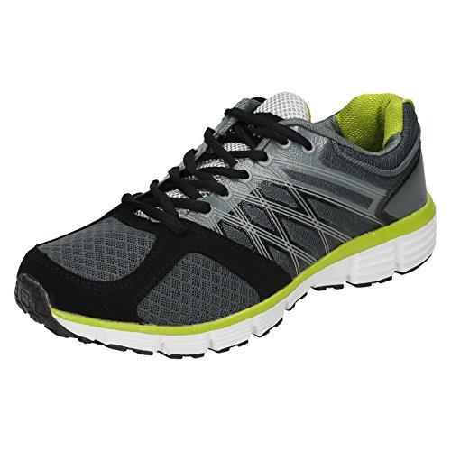 Airtech , Herren Sneaker Dark Grey/Neon Green