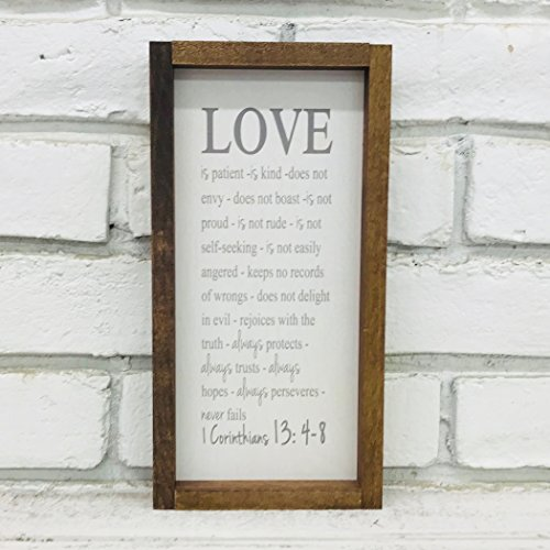 Madi Kay Designs Love Is Patient Love Is Kind 1 Corinthians 13 Wood Wall Art with 1