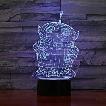 Decoración de luz Nocturna ilusión Sensor táctil niño niño Regalo ...