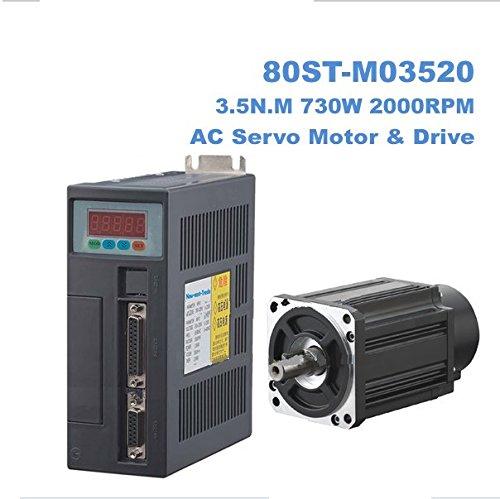 GOWE AC Servo motor and driver 3.5N.M 730W 2000RPM AC Servo Moto (Driver 2000rpm Tool)