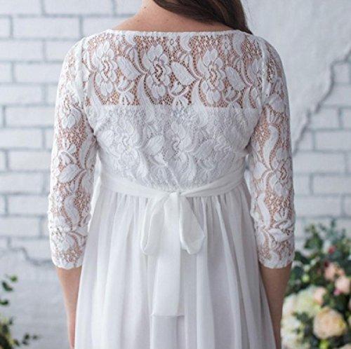 Maxi White Pure Mama Color Womens' Lace Comfy Dress Beach Stitching Clothes qPwRHfqAxU