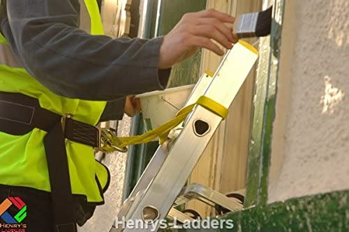 Lanyard for Ladders to BS358 The Ladderbelt Designed specifically for ladders to Meet Positioning Requirements EN 358. Ladder Safety Harness Henrys Ladder Safety Belt