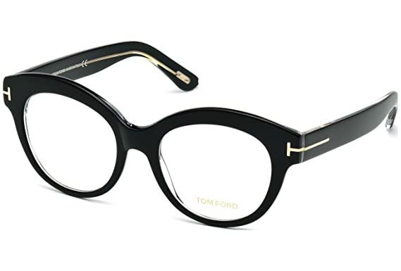 Tom Ford - FT 5463, Oversize, Acetat, Damenbrillen, BLACK(001), 52/19/140