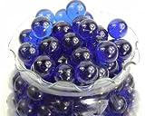 Round Cobalt Blue Marbles - 5 Pound Bag for Aquarium Decor and Decorative Use