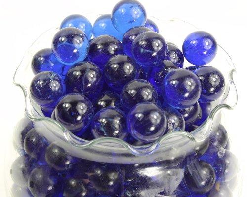 Round Cobalt Blue Marbles - 5 Pound Bag for Aquarium Decor and Decorative Use by Dashington