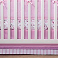 BreathableBaby | Cotton Crib Skirt | Finish Your Babys Bedding in Coordinated Style with BreathableBaby Crib Skirt | Fits Standard Crib Mattresses | 100% Cotton | Machine Wash and Dry | Pink/Pink