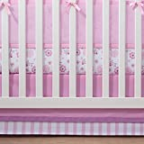 BreathableBaby | Cotton Crib Skirt | Finish Your Baby's Bedding in Coordinated Style with BreathableBaby Crib Skirt | Fits Standard Crib Mattresses | 100% Cotton | Machine Wash and Dry | Pink/Pink