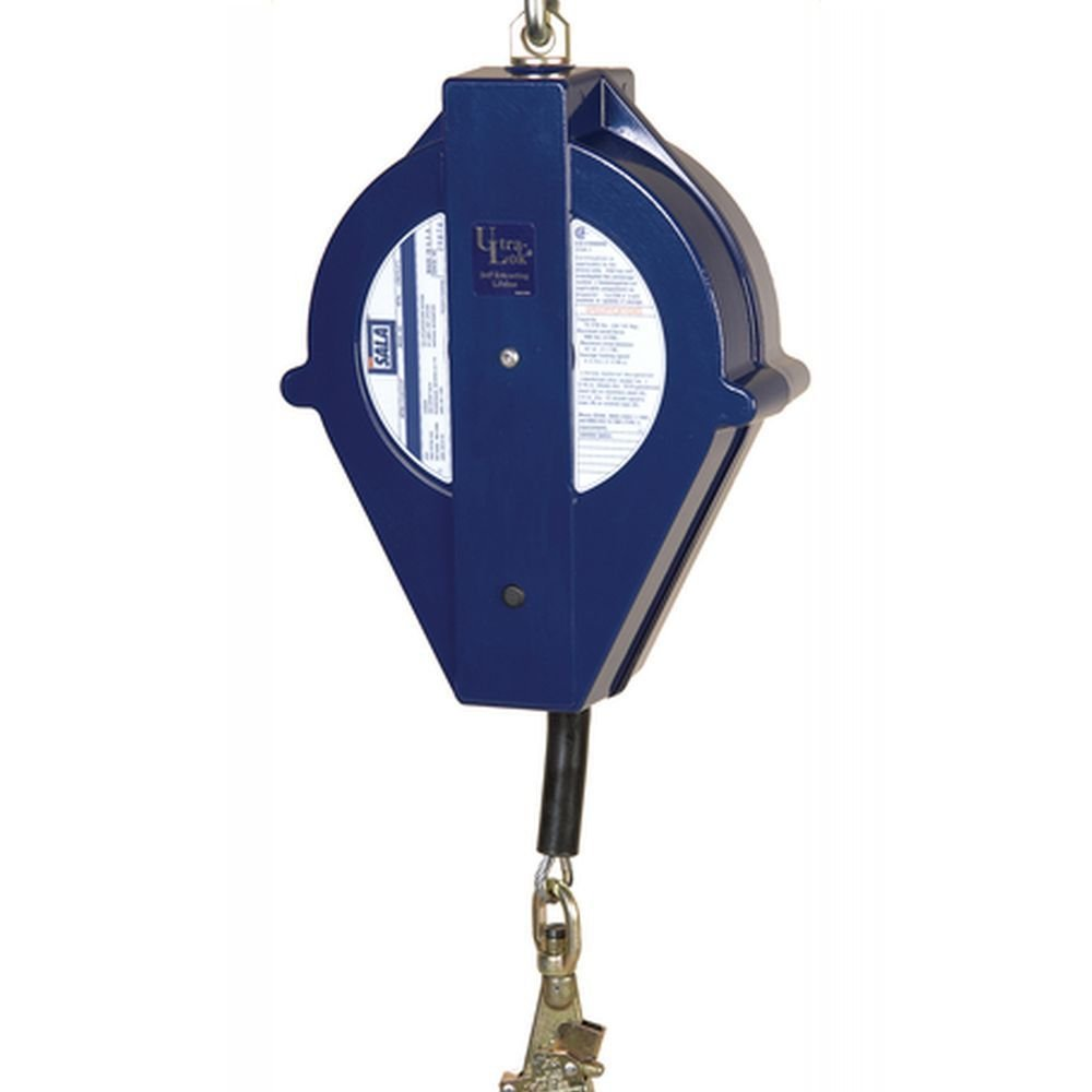 3M DBI-SALA Ultra-Lok 3504431 Fall Protection Self Retracting Lifeline Blue 30 3//16 Stainless Steel Cable with Swivel Snap Hook