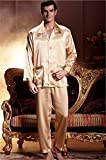 XIFENNI Men's Woven Silk Pajama Nightwear (XX Large)