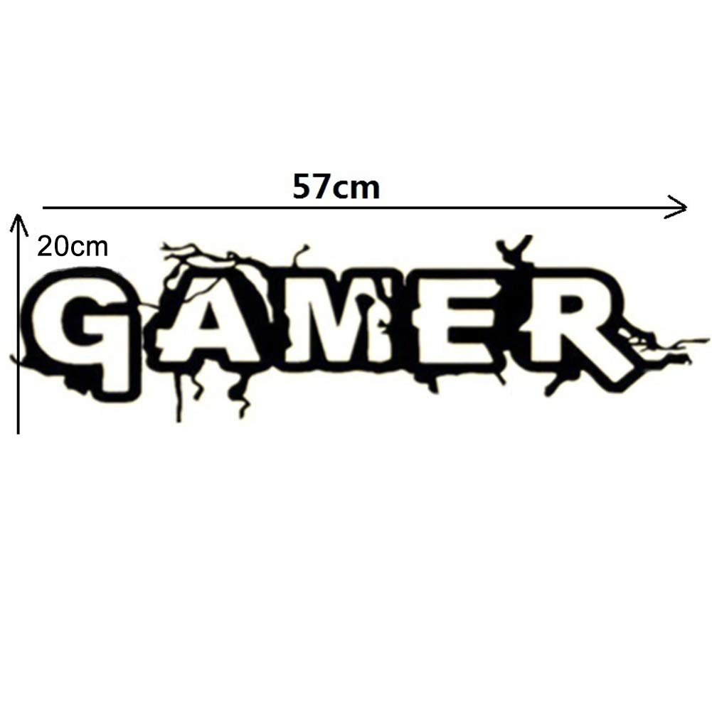 Hbvicts Sticker Bedroom Gamer Letter Removable Living Room Background Wall Sticker Home Decor by Hbvicts (Image #6)