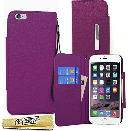 """Accessory Master Design portefeuille Housse Etui en PU cuir pour Apple iPhone 6 Case 4.7 """" Violet"""
