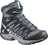 Salomon Kids Boy's XA Pro 3D Winter TS CSWP (Little Kid/Big Kid) Grey Denim/Black/Methyl Blue Boot 3 Little Kid M