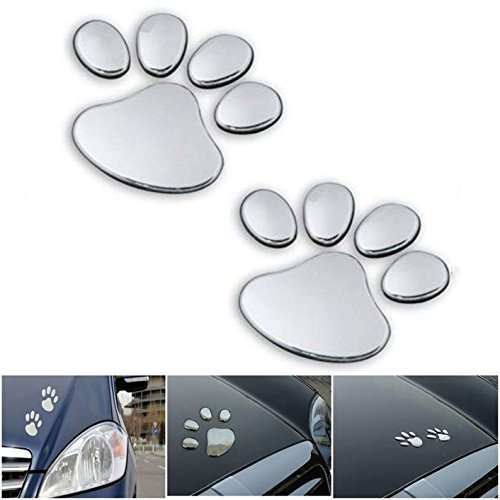 1 Pairs Dazzling Unique 3D Pets Paw Pet Funny Window Sticker Animal Cat Emblem Decor Macbook Laptop Patches Apple Hoverboard Home Room Art Wall Family Vinyl Stickers Colors - Bans For Guys Ray