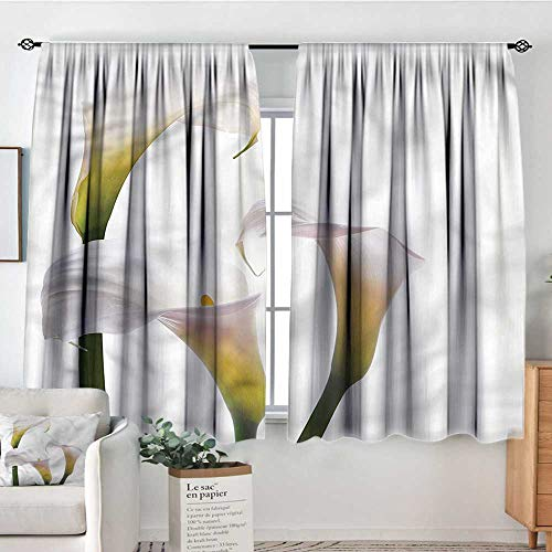 RenteriaDecor Flower, Curtains Calla Lilies Romantic 52