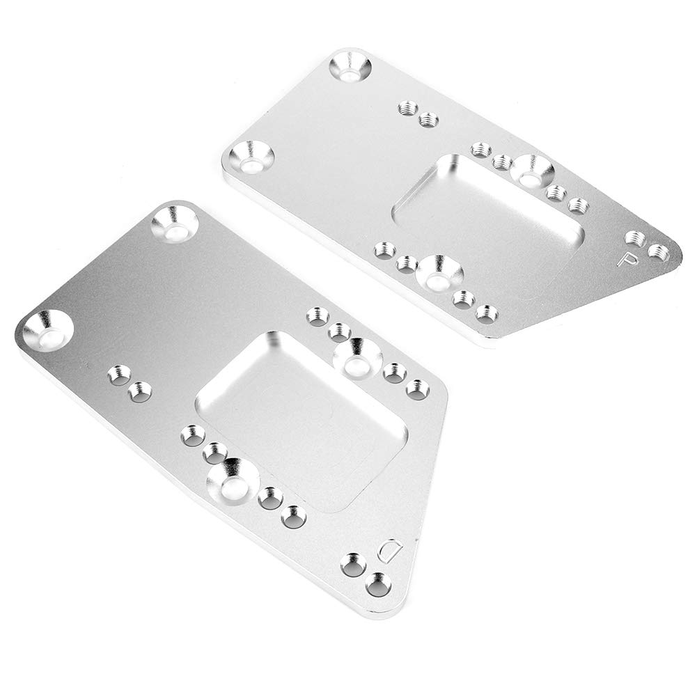 Aramox Engine Swap Brackets Aluminum Alloy Engine Swap Brackets Fit for SBC LS Conversion Motor Mount Adjustable Plate