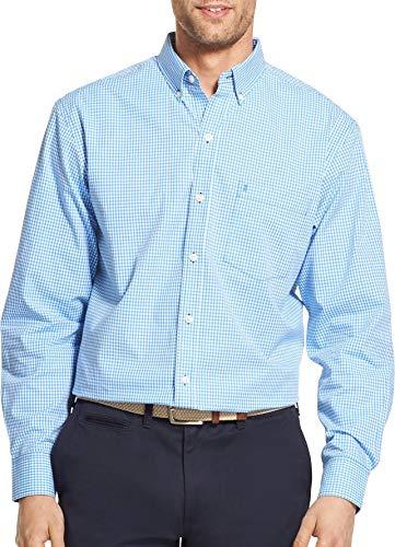 IZOD Men's Premium Performance Natural Stretch Gingham Long Sleeve Shirt (Big & Tall and Tall Slim)