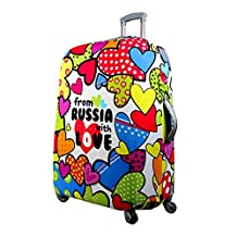uxcell® Heart Design Washable Elastic Luggage Protective Cover Trolley 18-22 Inch Colorful