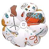 eZAKKA Wrist Pin Cushion Polka Pumpkin Wrist Band