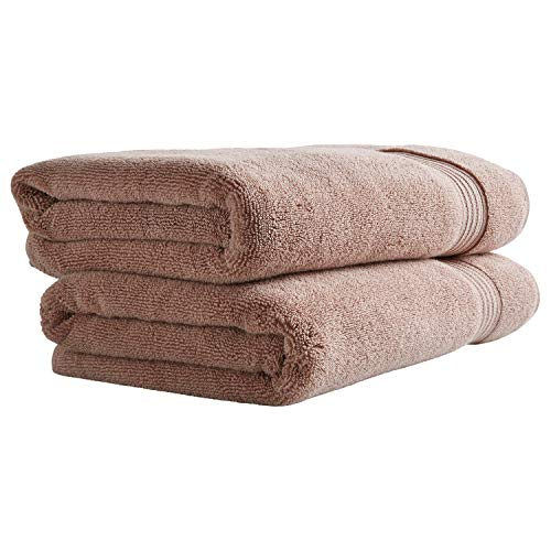 - Stone & Beam Classic Egyptian Cotton Bath Towels, Set of 2, Rose