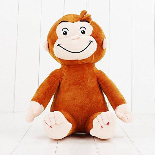 ZAMMA Curious George Monkey Plush Dolls Toys Stuffed Animals Plush Kids Christmas Birthday Gifts 4 Style 12inch (A)