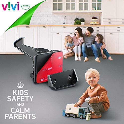518QVyiJ JL. AC Universal Baby Safety Kit Vivi Kids – Complete Baby Proofing Kit – 28 Pieces – 12 Concealed Cabinet Locks, 8 Corner Protectors, 6 Plug Covers & 2 Door Finger Pinch Guards – Easy to Install with 3M    Curiosity in babies and toddlers is a healthy sign of positive development, but this can also lead to some nasty mishaps. Childproofing your home is very important to keep your child safe from unforeseen accidents. With so many baby safety kits available in the market, it can get quite tough to choose the right one. Presenting, the Universal Baby Safety Kit by ViVi Kids. Baby proof your home and protect your precious baby from getting hurt from everyday household appliances.
