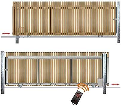 Bauer montar Puerta Corredera bodengeführt para atornillar con accionamiento/Jardín, valla, pforte, puertas, gehtür – Puerta, patios,, hoftür, Puerta: Amazon.es: Bricolaje y herramientas