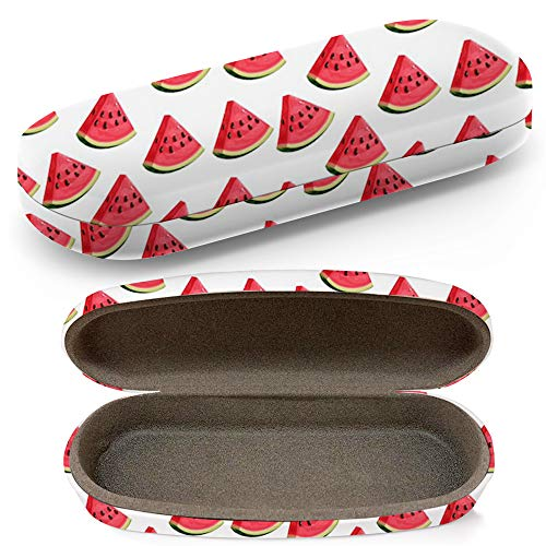 Hard Shell Glasses Protective Case With Cleaning Cloth Eyeglasses Sunglasses - Watermelon Slices
