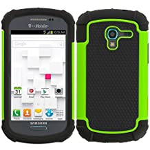 Impact Dual Layer Shock Proof Case For Samsung Galaxy Ace 2 II-E T599 - Black / Green