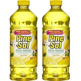 Pine-Sol Multi-Surface Cleaner, Lemon Fresh, 48 Fluid Ounce Bottle by Pine-Sol (Pack of 2)