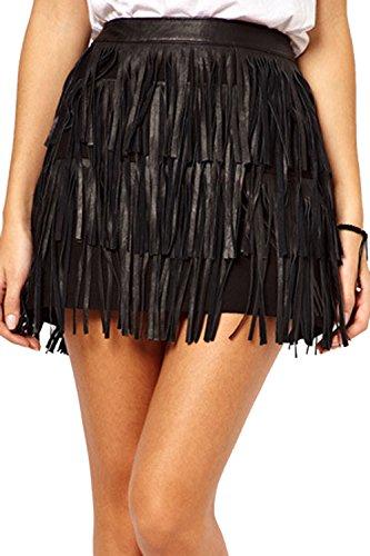 Club Femmes Nimpansa Bodycon Black Cuir Mini lgant Jupe Les Glands Jupes OtHHw1Uqx5