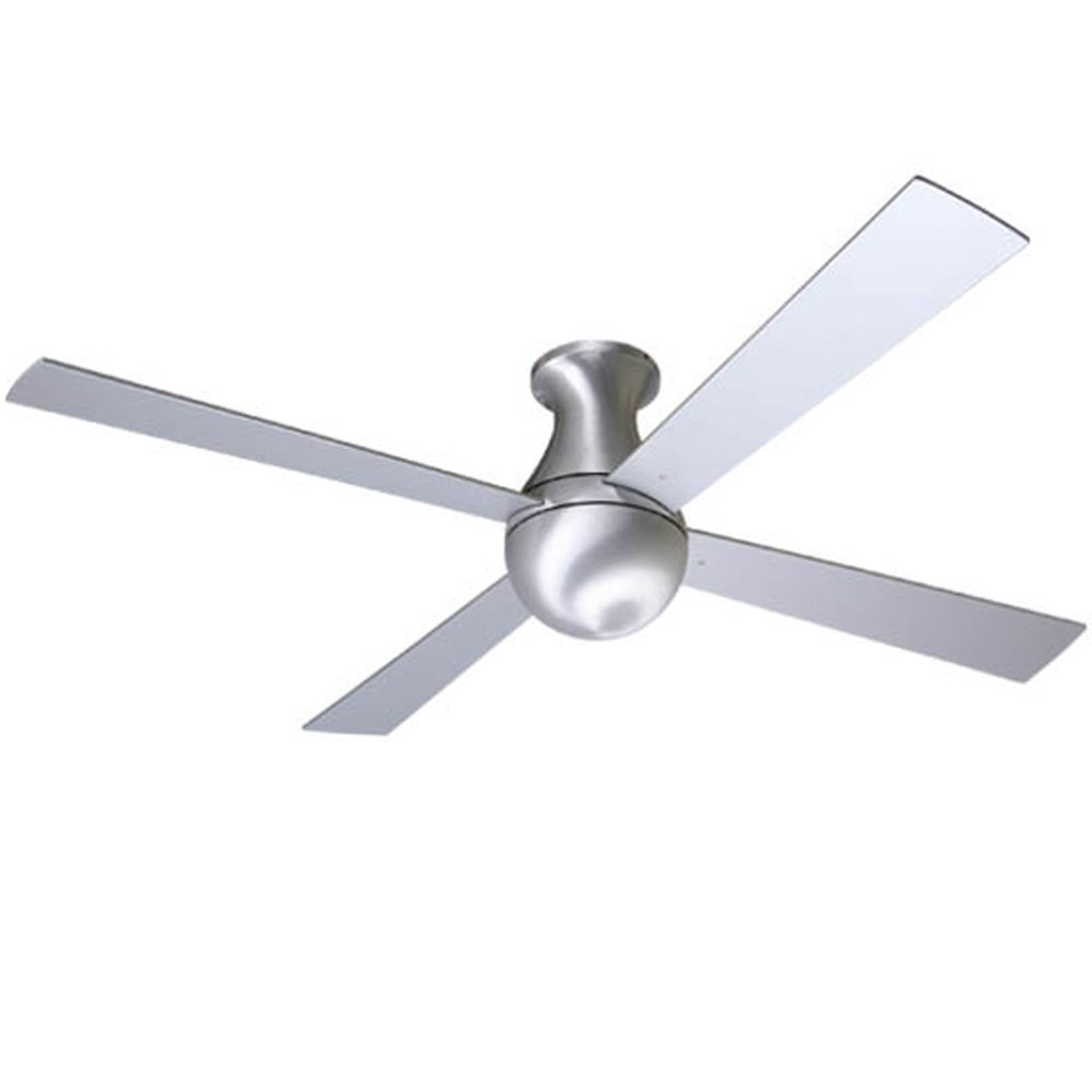 42'' Modern Fan Aluminum Finish Ball Hugger Ceiling Fan by Modern Fan