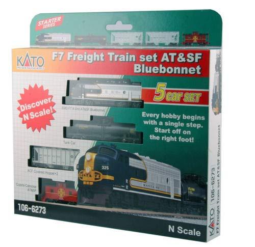 N F7 Freight Train Set Santa Fe Bluebonnet 5-Unit Set