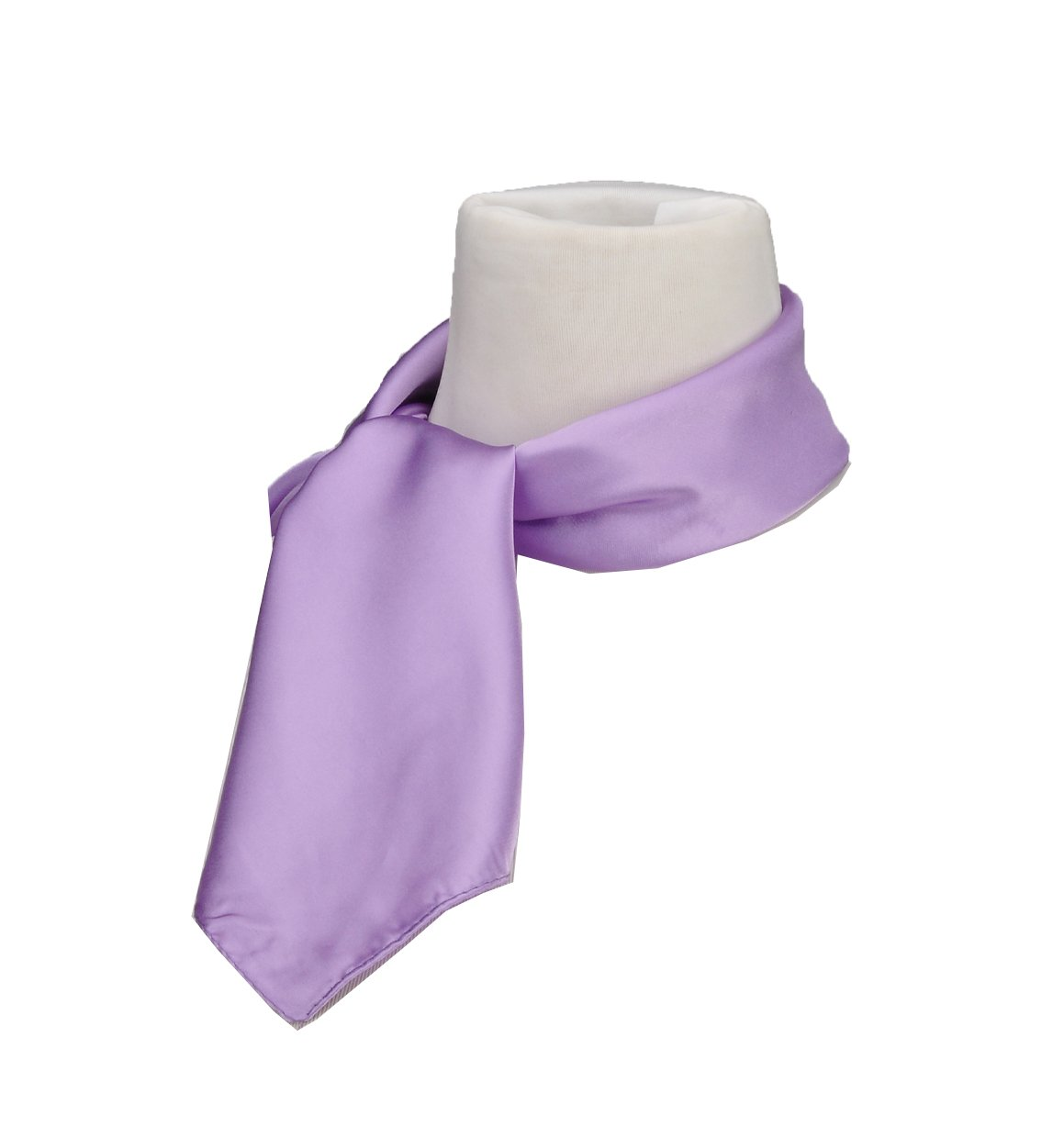 Silk Feel Soft Satin Square Scarf Head Neck Multiuse Solid Colors Available Lavender