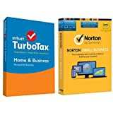 TurboTax Home & Business 2015 Federal + State Taxes + Fed Efile Tax Preparation Software - PC/Mac Disc with Norton Small Business - 10 Device
